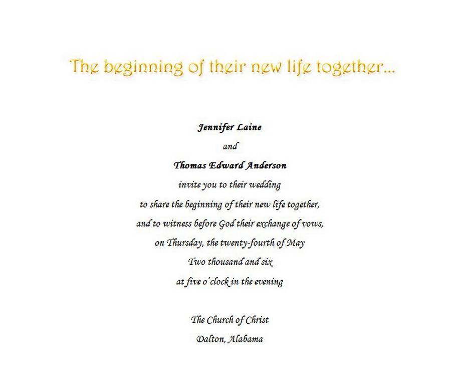 Wedding Invitations Bride Groom Hosting 6 Wording   Free Geographics ...