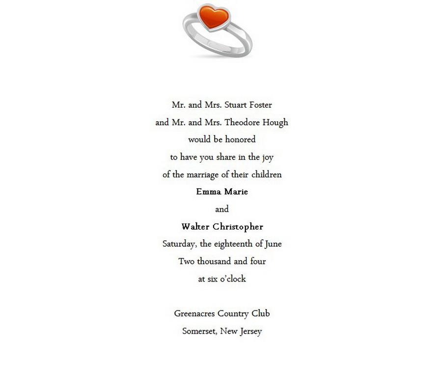 Wedding Invitations Bride Groom Both Parents 3 Wording   Free ...