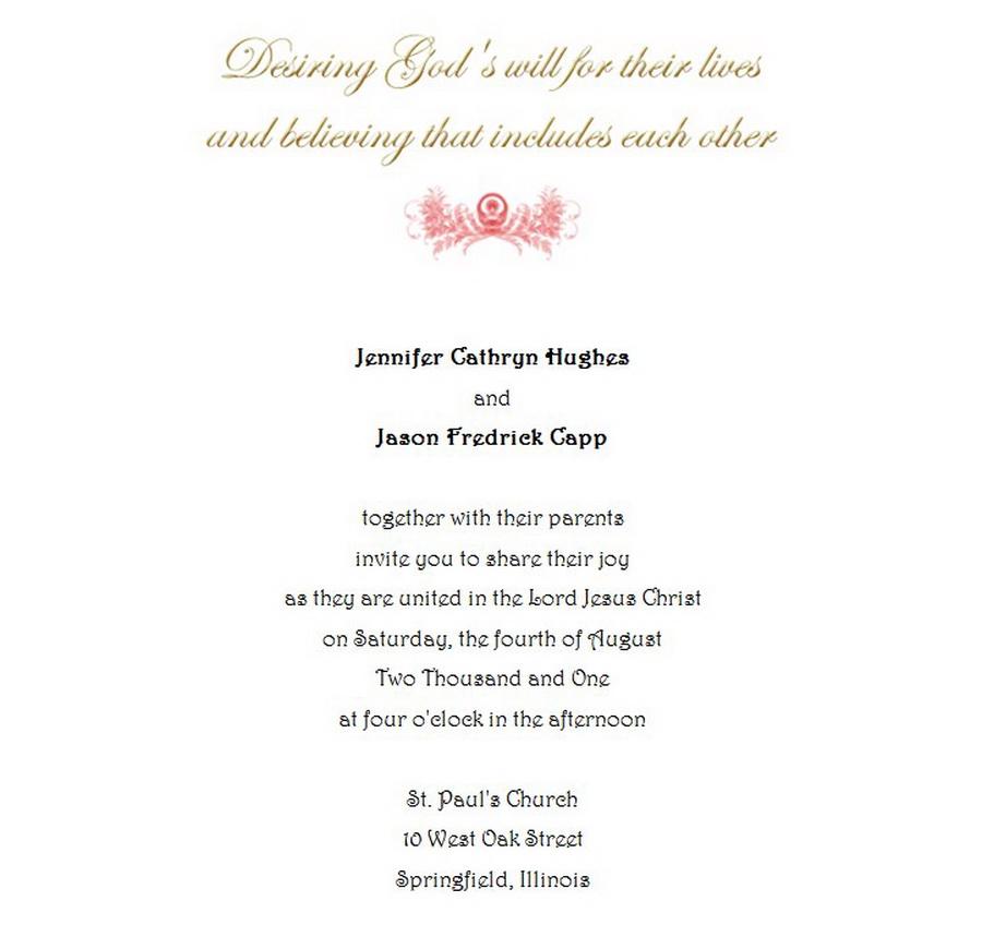 Wedding Invitations Bride Groom Both Parents 7 Wording   Free ...