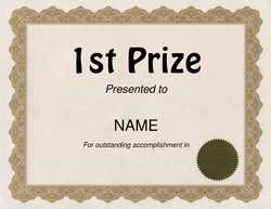 Free award templates with wording geographics download 1st prize award free templates geographics yelopaper Images