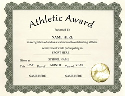 Free award templates for elementary school thepaperseller download athletic award free template geographics pronofoot35fo Choice Image