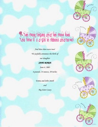 FREE Baby Announcements Templates, Clip Art & Wording | Geographics