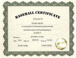 free basketball camp certificate