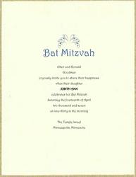 Free Bat Mitzvah Invitations Templates Clip Art Wording