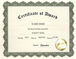 Free certificate templates for middle school thepaperseller download certificate of award free template geographics yadclub Choice Image