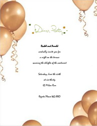 Dinner Party Invitations Templates, Clip Art & Wording | Geographics
