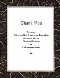 Funeral Thank You Notes Templates, Clip Art & Wording | Geographics