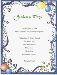 Graduation Party Invitation Words Templates, Clip Art & Wording ...
