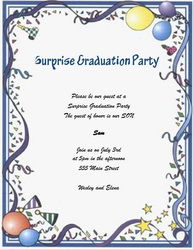 graduation party invitation words templates, clip art & wording, Party invitations
