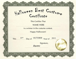 Halloween costume certificates gidiyedformapolitica halloween costume certificates yadclub Image collections
