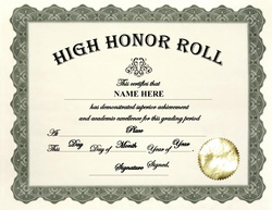 Free certificate templates for high school for A b honor roll certificate template