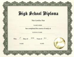 Free High School Diploma Templates| Geographics