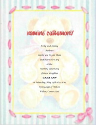 Free Baby Naming Ceremony Templates, Clip Art & Wording | Geographics