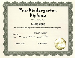 Free Kindergarten & Pre-K Diploma Templates| Geographics