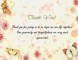 Wedding Thank You Card Templates, Clip Art & Wording | Geographics