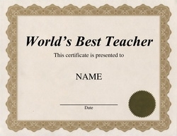 World s best teacher certificate gidiyedformapolitica world s best teacher certificate free certificate templates for teachers printable yelopaper Choice Image